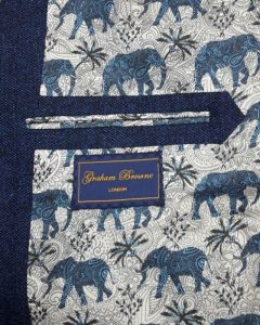 New Printed Lining - Paisley Elephants