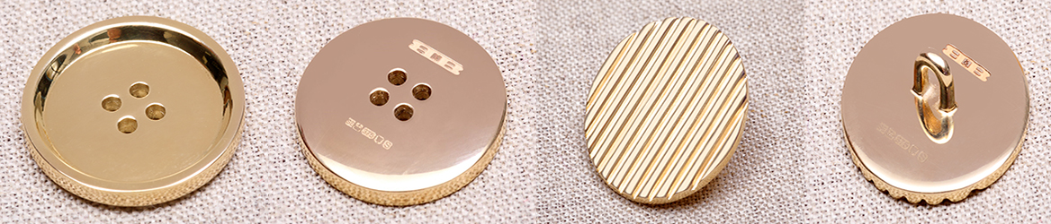 Solid 9ct Gold Buttons