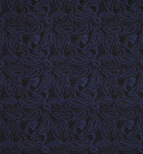Silk Facing Blue Brocade Paisley