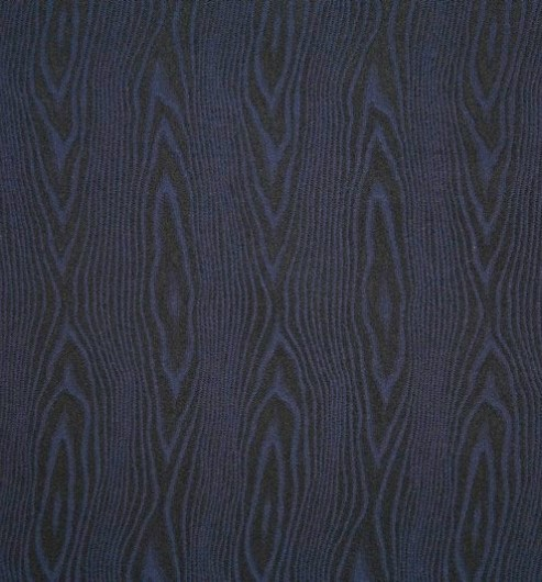 Silk Facing Blue Moire