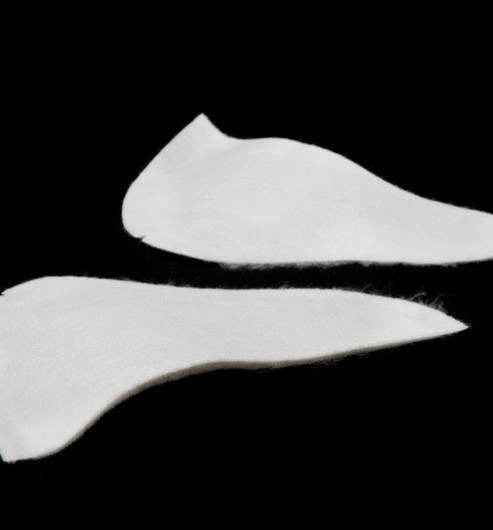 Shoulder Pads Thin White