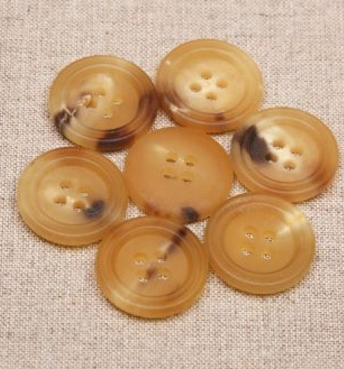 Double Rim 4 hole Horn Buttons