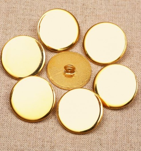 32L Brass Gilt Blazer Buttons - Nickel Free