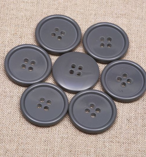 24L Thin Rim Polyester Buttons