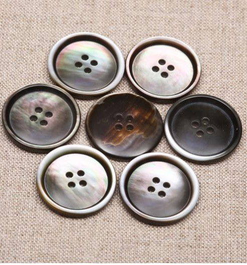 Smoke Mother of Pearl Buttons