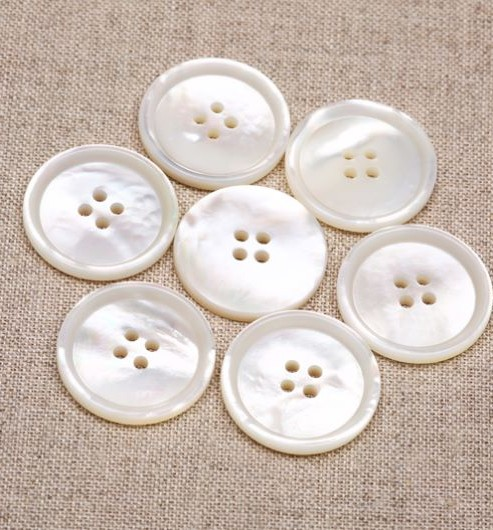 White Mother of Pearl Buttons