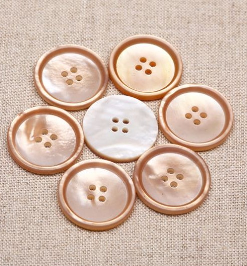 Champagne Mother of Pearl Buttons