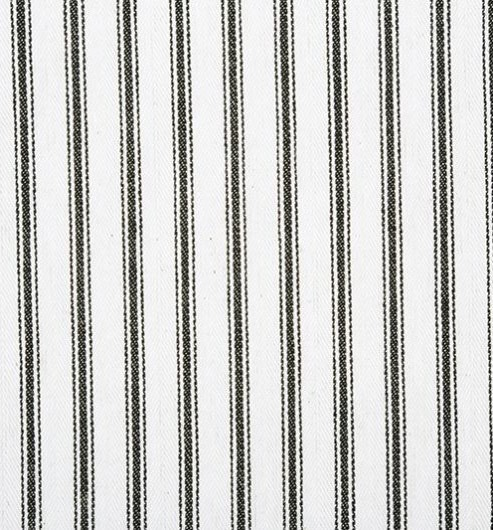 Cotton Ticking Natural with Black Stripes