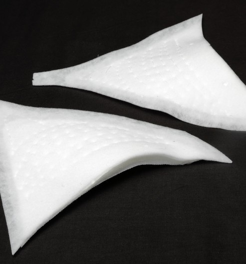 Shoulder Pad Stitched White