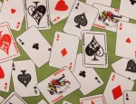 100% Viscose Twill - Playing Cards
