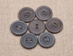23L Corozo Buttons 2 hole - Light Grey (29)