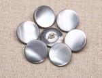 24L MOP Waistcoat Button with metal shank - Smoke