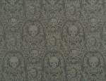 Exclusive Jacquard Cupro design linings - Mid Grey-Skulls