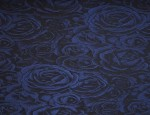 Satin Jacquard Cupro lining - Royal Blue-Velvet Rose