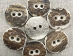 30 ligne/19mm Natural Stag Horn Button - Natural