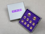 Four Hole Solid 9ct Gold Buttons - Set of 10