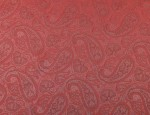 Exclusive Jacquard Cupro design linings - Strawberry Paisley