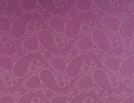 Exclusive Jacquard Cupro design linings - Lilac Paisley