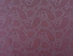 Exclusive Jacquard Cupro design linings - Wine/Blue Paisley