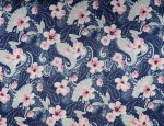 100% Viscose Twill - Paisley Hibiscus
