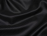"54"" 100% Viscose Pin Spot Lining - Dark Navy with White Spots"