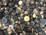 1kg Bag Assorted Horn Buttons - Mixed Dull
