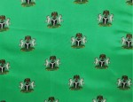 100% Viscose Twill - Green Nigerian Coat of Arms